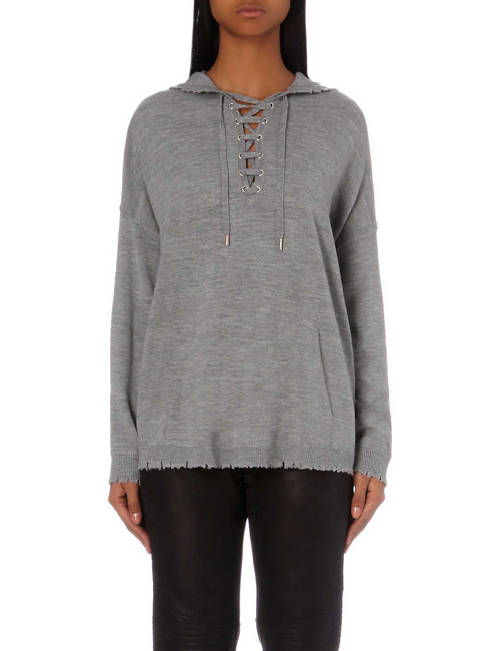 611906afca THE KOOPLES - Lace-up wool jumper