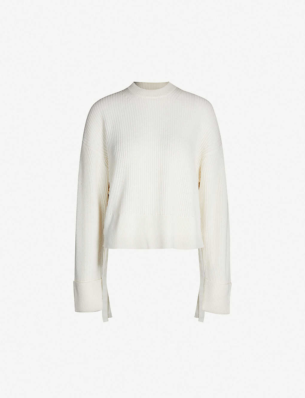 6436791ead THE KOOPLES - Lace-up side wool and cashmere-blend sweater ...