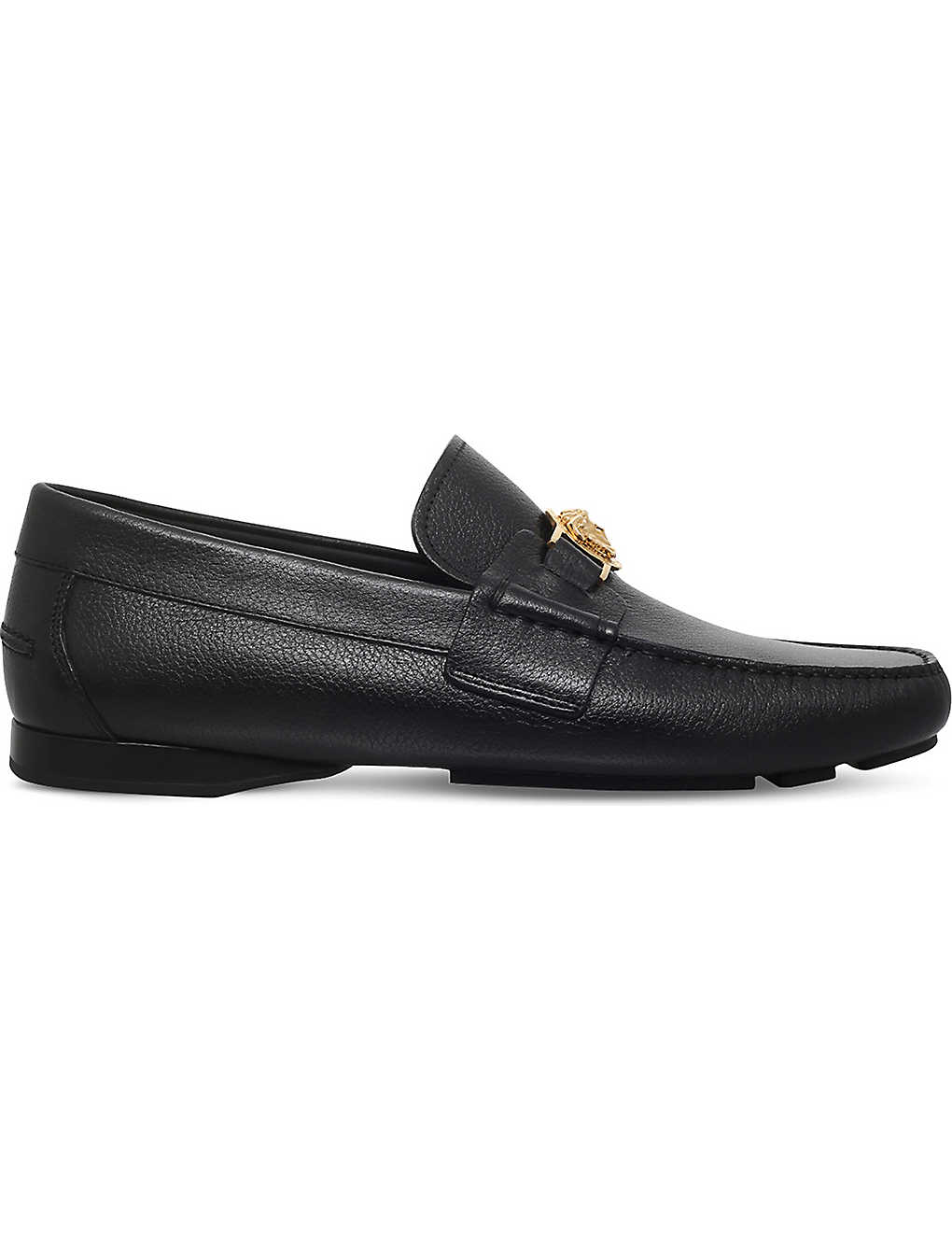 9cc0cf0232b VERSACE - Medusa leather penny loafers