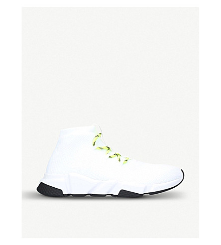 fce63c5d447a ... BALENCIAGA Speed knitted trainers (White. PreviousNext