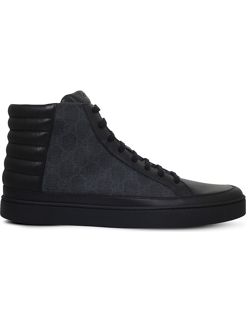 cf62db4dbd91 GUCCI - Common GG high-top trainers