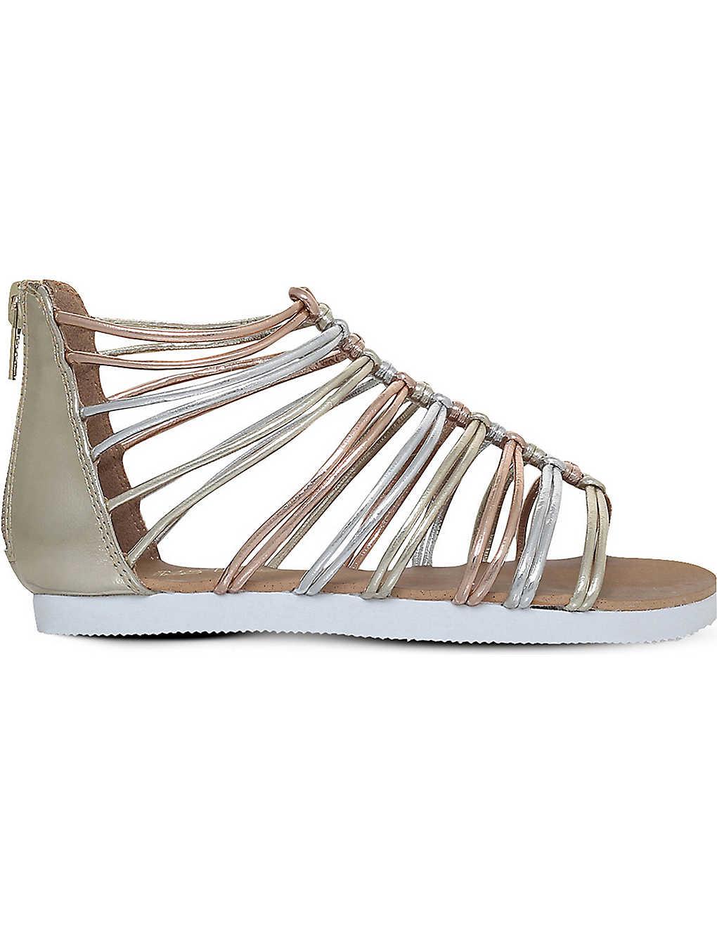 0bfbe38455d0 MINI MISS KG - Rainbow metallic gladiator sandals 3-7 years ...