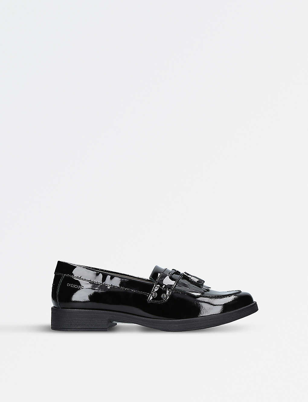 c76a547219c GEOX - Agata fringed patent leather loafers 9-11 years | Selfridges.com