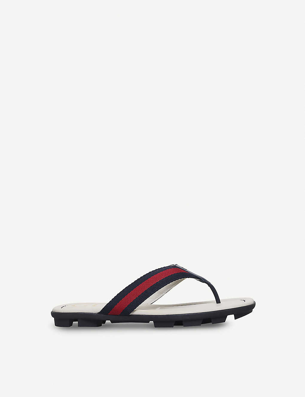 7cf26d9199d2d GUCCI - Titon webbing and leather sandals 8-9 years