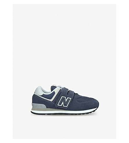 hot sale online 9d066 10895 NEW BALANCE 574 suede trainers 6-11 years