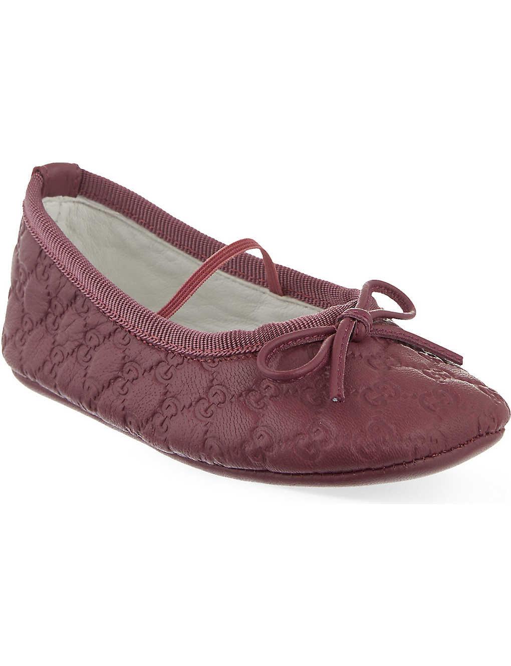 GUCCI - Baby Ali leather crib shoes 4-6 months  5e0eba6c2