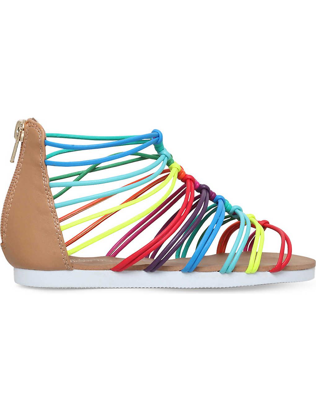 411d33d26880 MINI MISS KG - Rainbow multi-coloured sandals 7 - 10 years ...