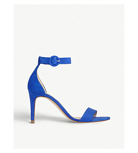 ed1c8ca072a840 LK BENNETT - Dora two-part suede heeled sandals