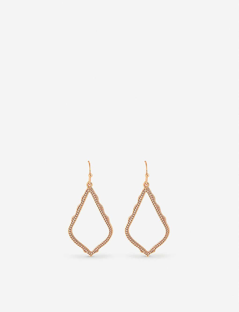 b76a94216c52b4 KENDRA SCOTT - Sophia rose-gold plated drop earrings   Selfridges.com