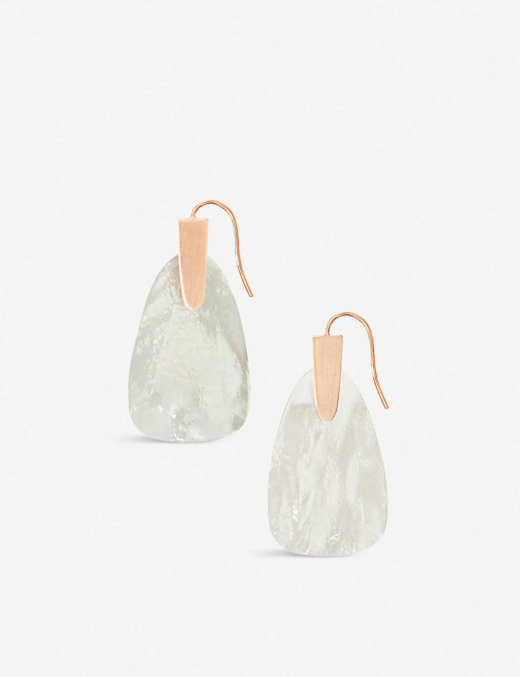 3256660ea3a094 KENDRA SCOTT - Marty 14ct rose gold-plated and mother-of-pearl ...