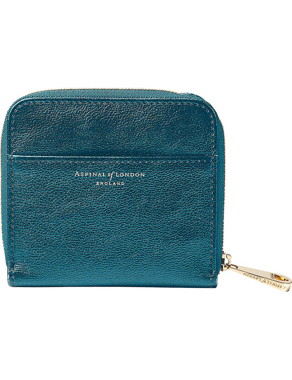 b224b12e218d ASPINAL OF LONDON - Mini continental metallic-leather coin purse ...