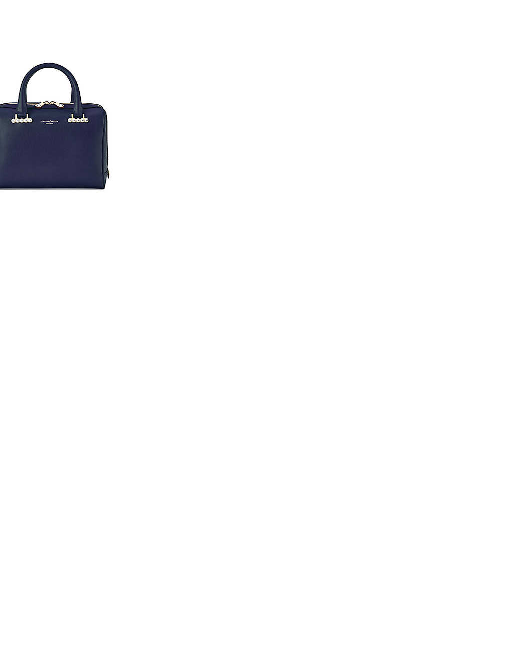 ASPINAL OF LONDON - Pearl-embellished leather bowling bag ...