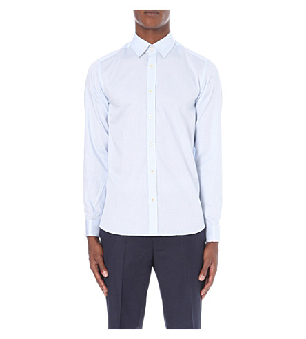 480cc711e3d6 ... TED BAKER Modern-fit circle-print cotton shirt (Light+blue. PreviousNext