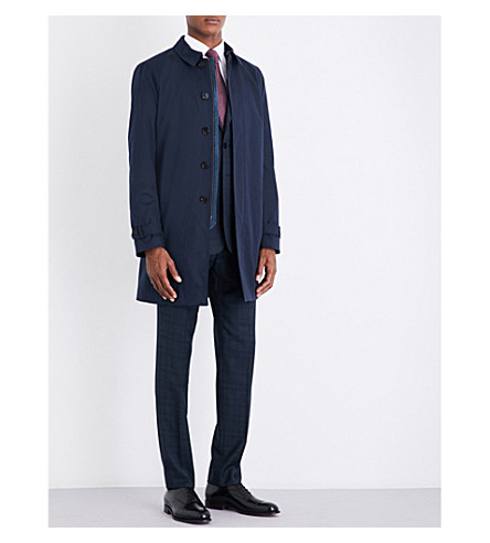e44b9e555ff53a ... TED BAKER Flinty cotton-blend coat (Navy. PreviousNext