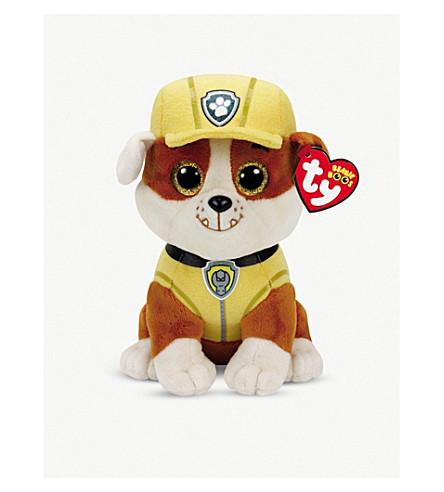 PAW PATROL - Ty Rubble beanie soft toy  9f7c3a325fe