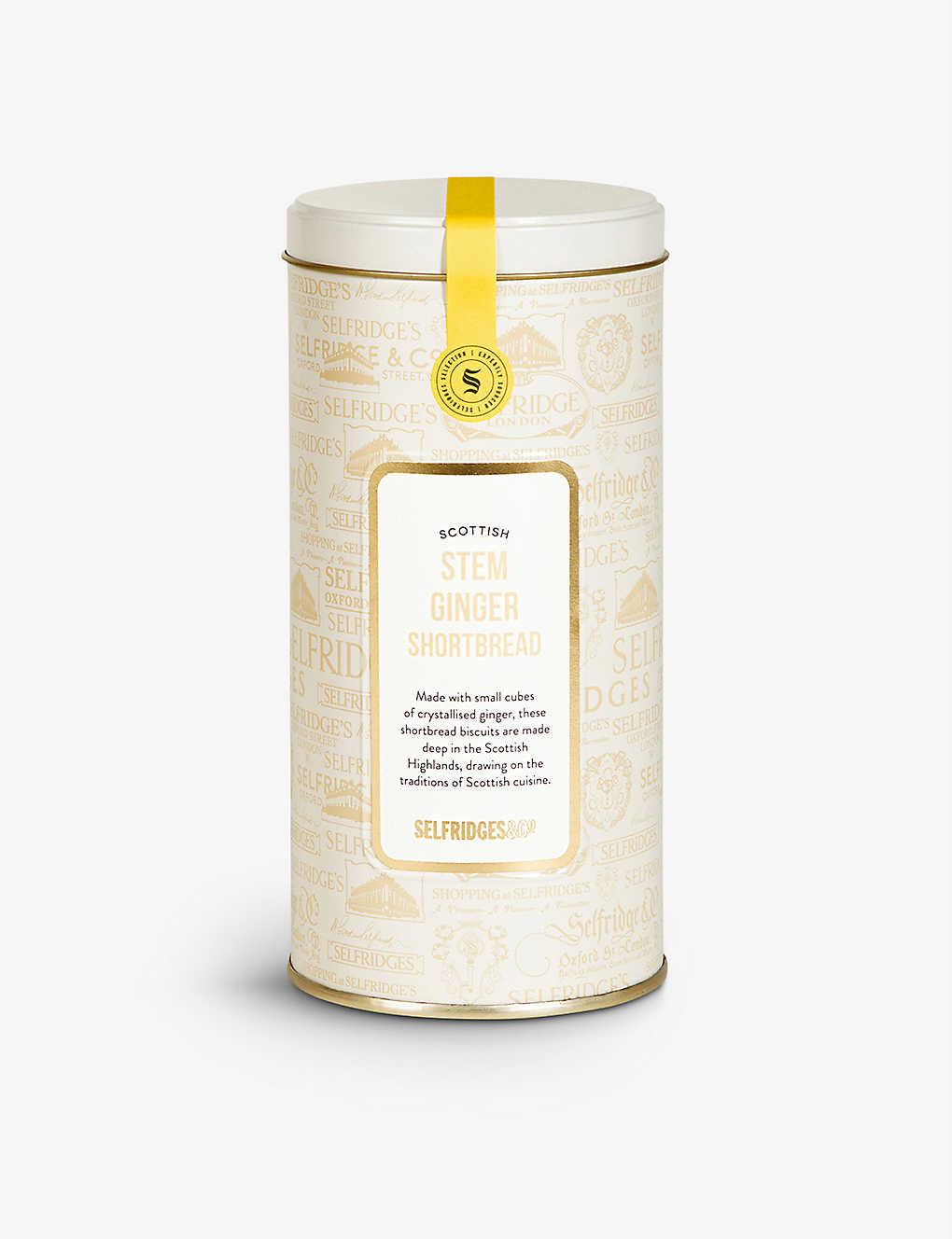 Selfridges Selection Stem Ginger Shortbread Tin Selfridges Com