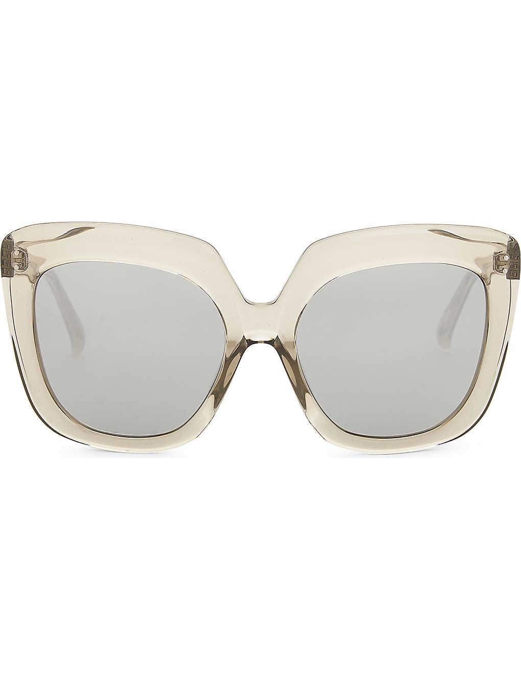 04b70fef980 LINDA FARROW - Oversized square-frame sunglasses
