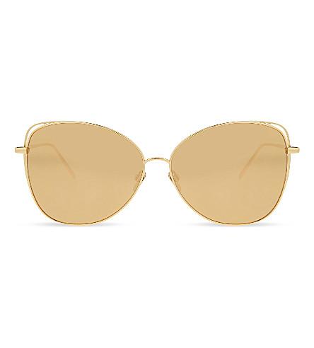 cb64d347885b ... LINDA FARROW Lfl566 cat-eye sunglasses (Gold. PreviousNext