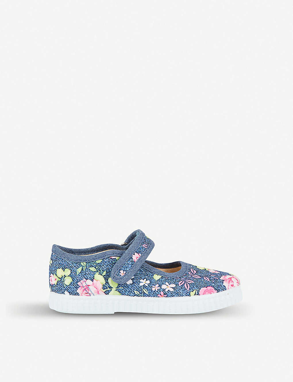 055c15fc532a STEP2WO - Rosita floral-embroidered canvas shoes 3-7 years ...