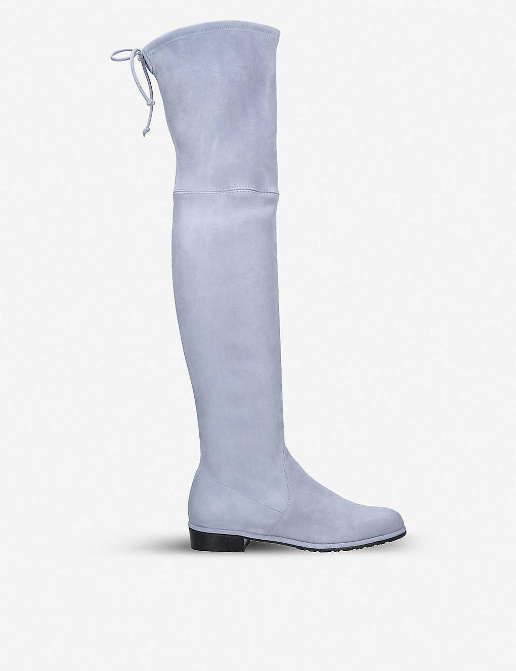 dbddcbe88db STUART WEITZMAN - Lowland suede over-the-knee boots
