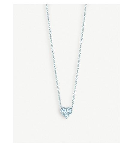 14273edc32242 TIFFANY   CO - Platinum and diamond heart pendant necklace ...