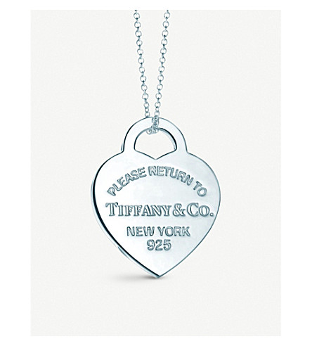 TIFFANY   CO - Return to Tiffany heart tag pendant in sterling ... 2a5ea44d0d