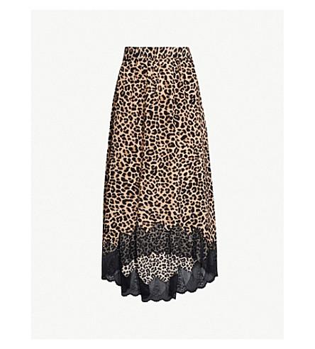 ZADIG VOLTAIRE - Joslin leopard-print crepe and lace midi skirt ... dfe6ab224