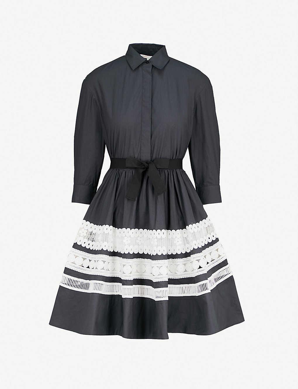 d351321a7b8 MAJE - Ramona embroidered-detail cotton shirt dress