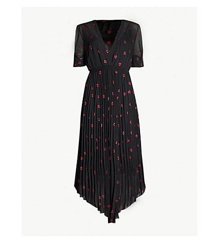308ebf3094 ... MAJE Rengo embroidered-heart woven dress (Black+210. PreviousNext