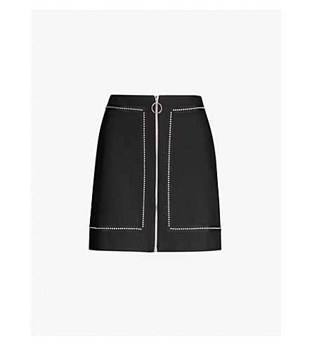 A Line Woven Skirt by Maje