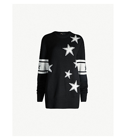 Mina Star Intarsia Knitted Jumper by Maje