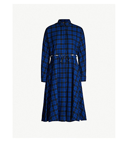 rebel-checked-cotton-dress by maje