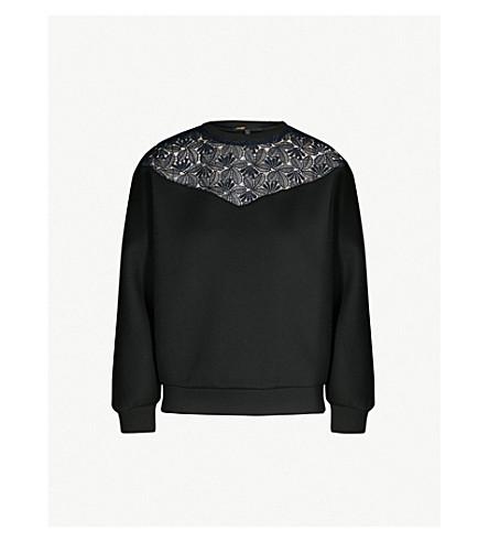 6bb96b716c MAJE - Tepina lace-panel jersey sweatshirt