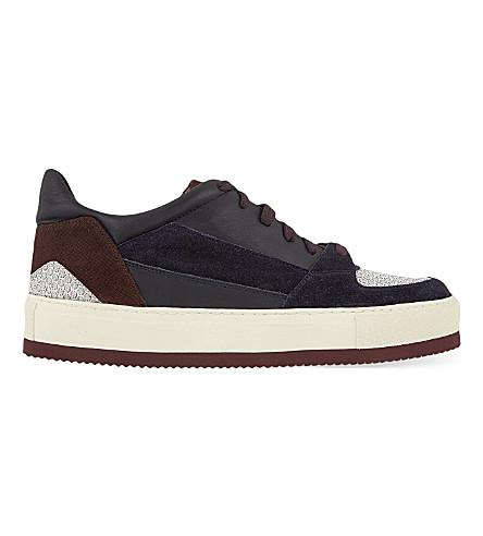 d1e11277cc12 ... DRIES VAN NOTEN Wedge sole low-top sneakers (Navy. PreviousNext