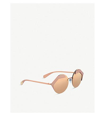 eaea8186db BVLGARI 903220 Serpenteyes round sunglasses (Pink+gold