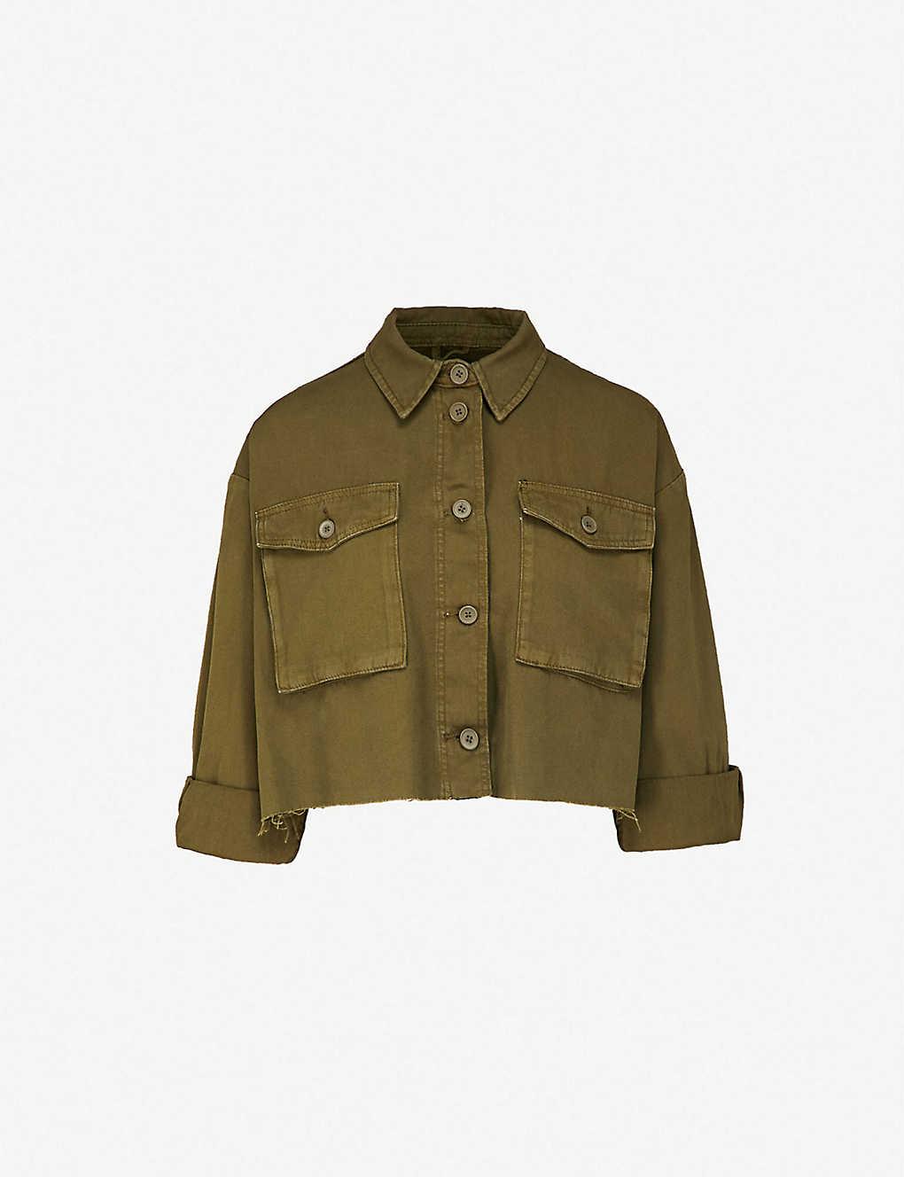 TOPSHOP - Sonny cropped cotton jacket  f5dc221f81f9d