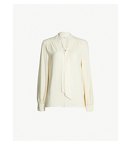 Pussy Bow Crepe Blouse by Topshop