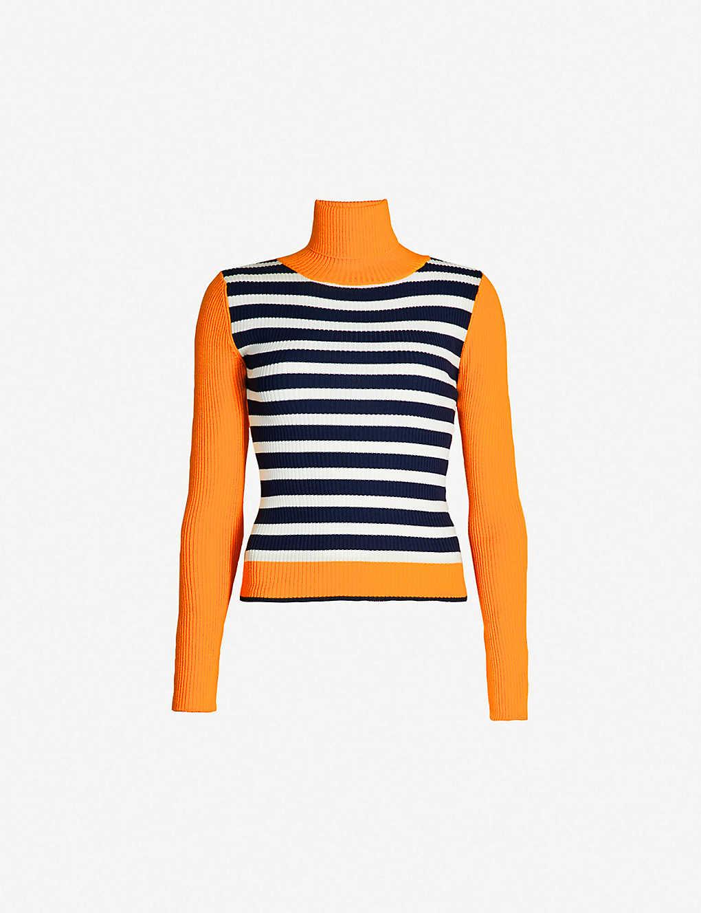 TOPSHOP - Contrasting stripe roll-neck jumper  c973ddbd1
