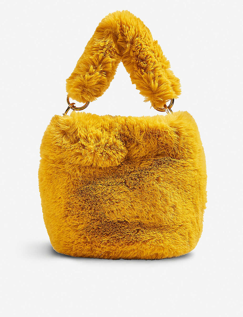 096081bc22 TOPSHOP - Teddy faux-fur bucket bag