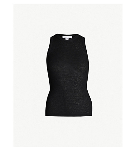 Ribbed Stretch Jersey Top by Topshop