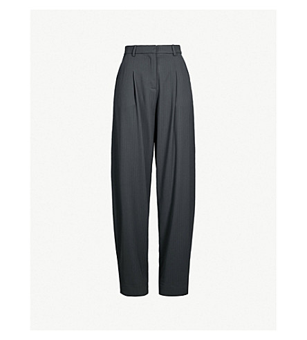 Boutique Wool Blend Peg Trousers by Topshop