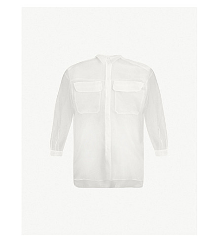 Oversized Silk Organza Shirt by Topshop