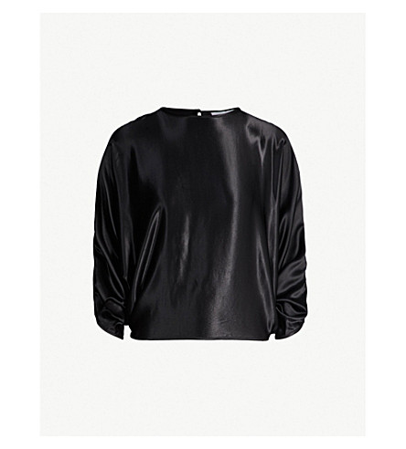 Batwing Satin Top by Topshop