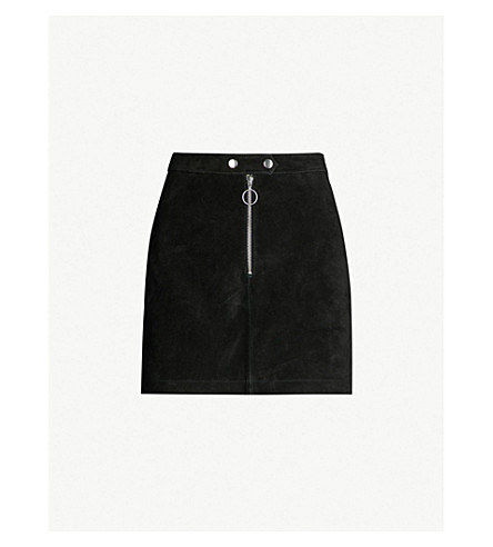 High Rise Suede Mini Skirt by Topshop