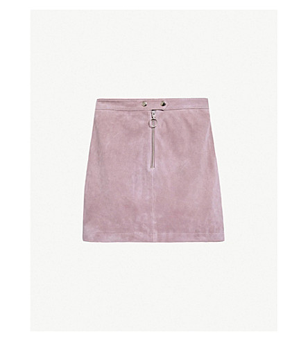 Suede A Line Skirt by Topshop