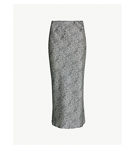 TOPSHOP - Spotted bias-cut satin midi skirt  03bf94caa