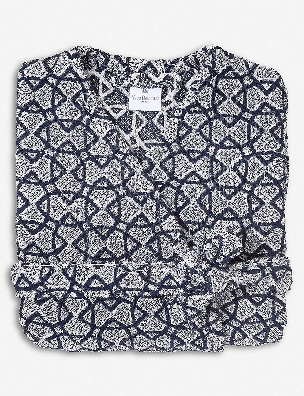 YVES DELORME - Entrelacs Marine cotton bath robe  b6b458499