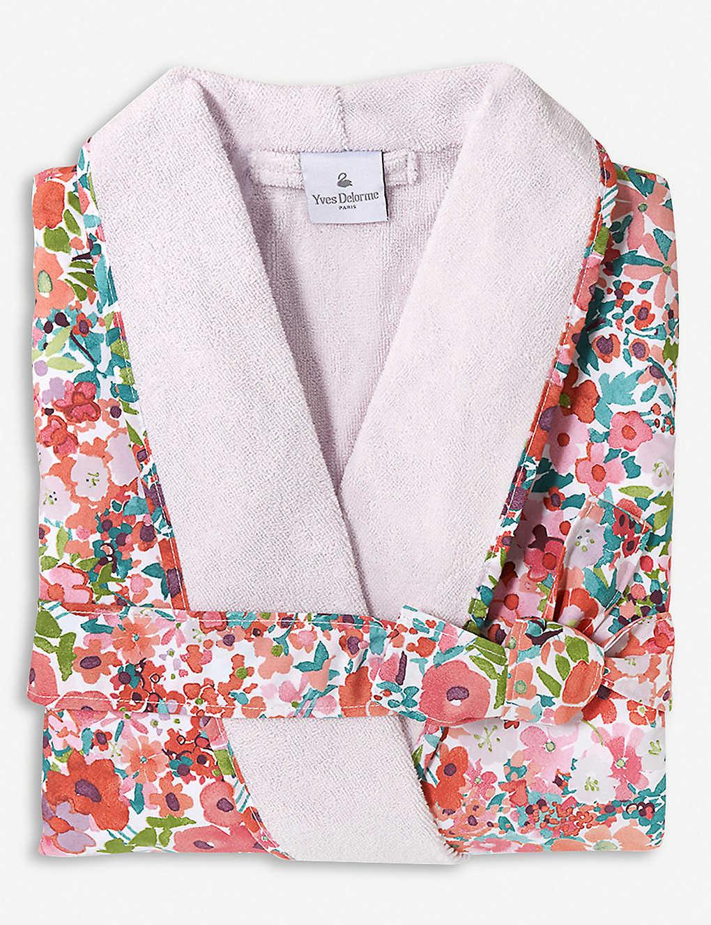 YVES DELORME - Milfiori Grenade cotton bathrobe  7d4ed7a73