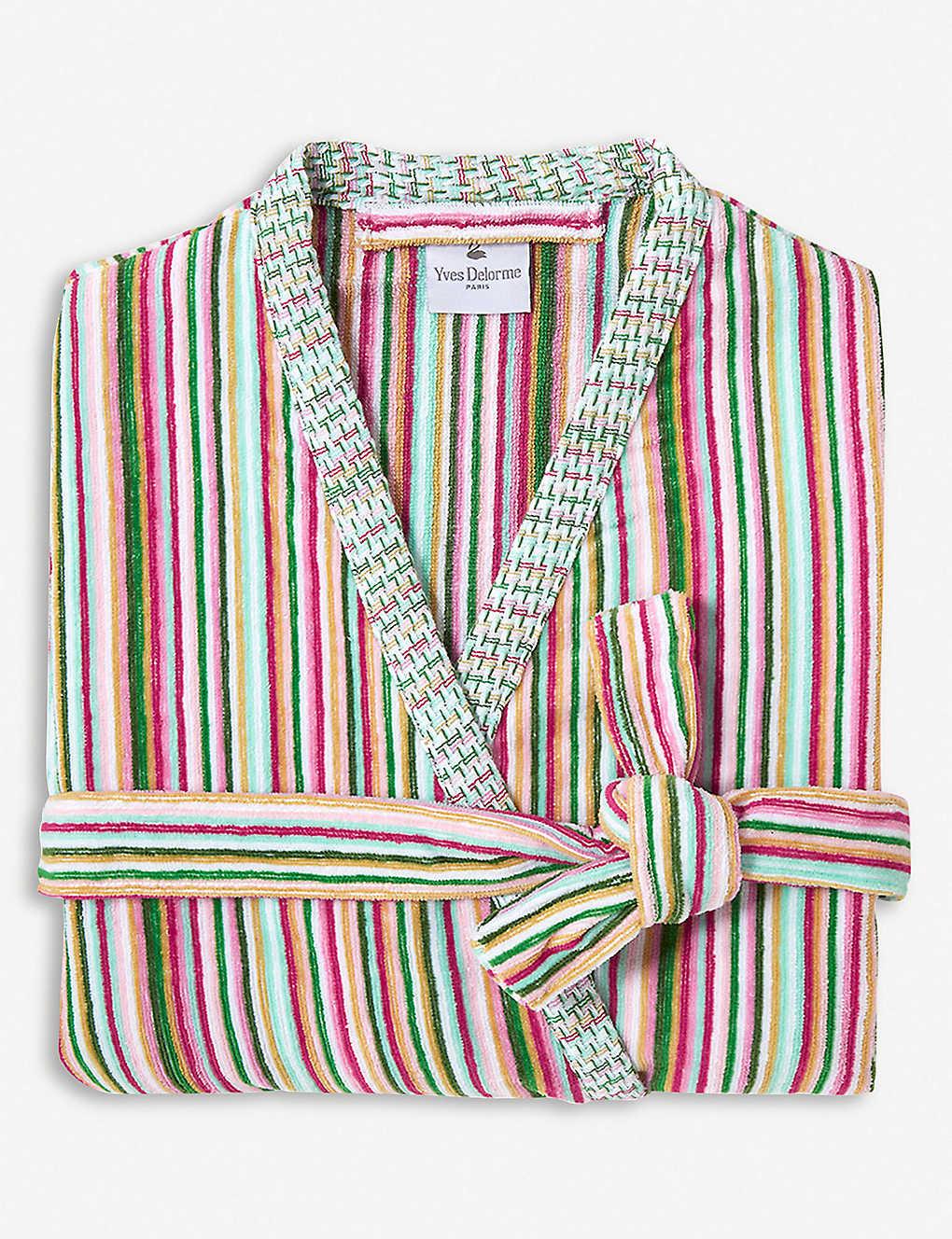 YVES DELORME - Rivages Flamant cotton bathrobe  203a1bb8d