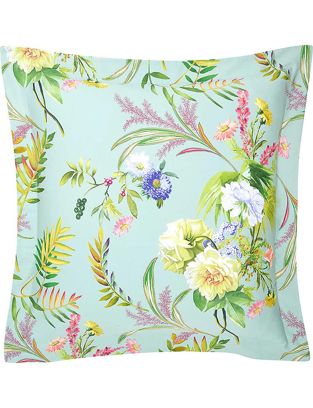 YVES DELORME - Bouquets square cotton pillow case  a859d3334